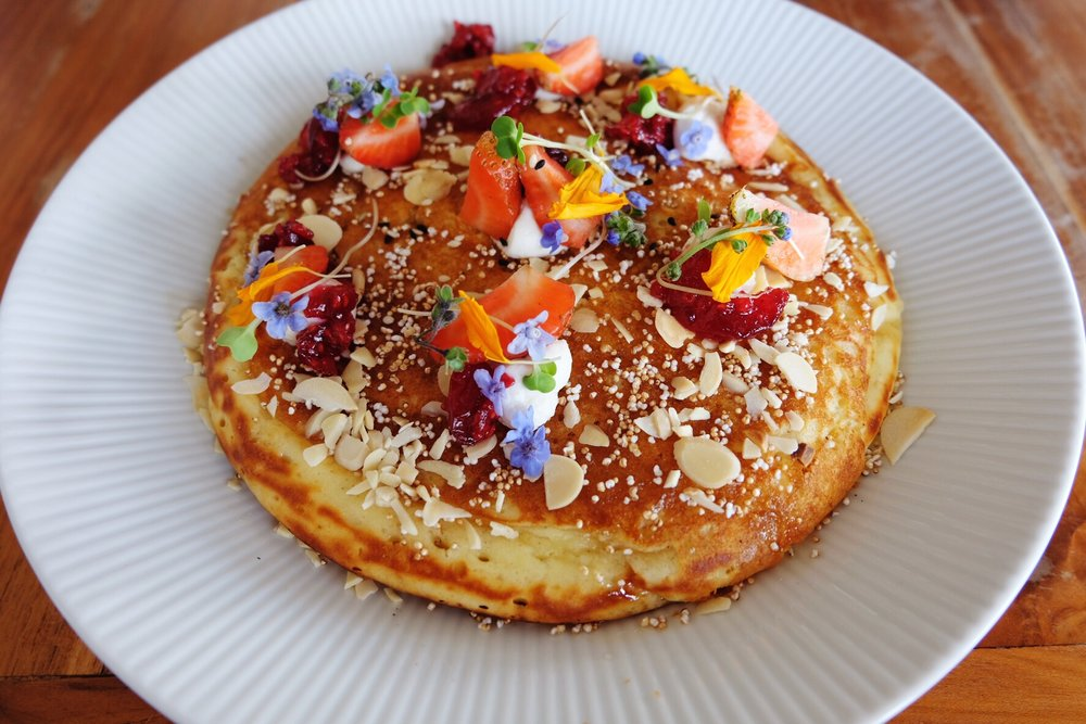Fluffy Buttermilk Pancake at Watercress, Ubud