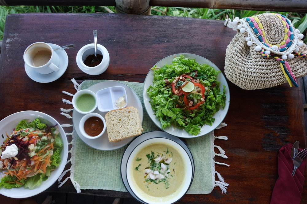 Raw Thai Soupand Salad  at Sari Organik, Ubud