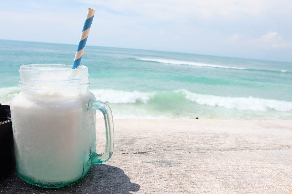 coconut delight smoothie at Kelly's Warung,  Uluwatu