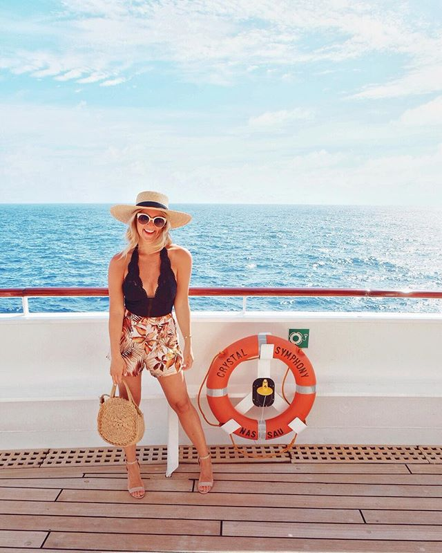 This was the trip that I packed for a 16 day cruise in just one suitcase! I'm not the best packer, I tend to bring way to much because I like having options everyday. But I've found that body suits make packing so much easier because they are so versatile. I love how many ways I can style this one, called the Ciao Bella, from @btemptdbras. During the day I can pair it with shorts and sunhat, and at night I can dress it up with a maxi skirt and heels. #MyBtemptd #ad