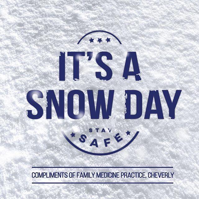 #snowdaystaysafe