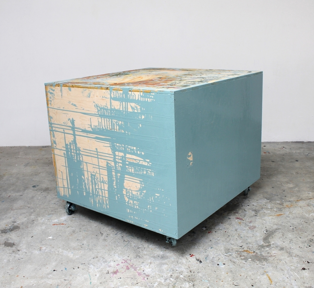 Rolling Platform (Light Blue) 2015 40.5 x 48 x 45.5 inches