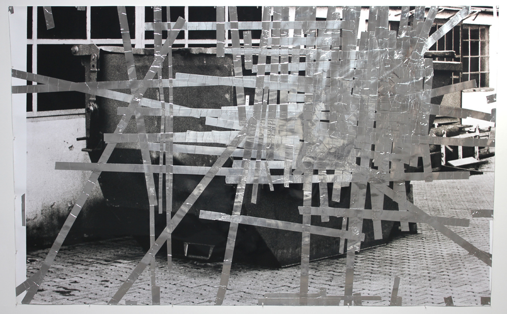 Tape Drawing (Reutlingen Factory Yard #2) 2010 71.75 x 120 inches