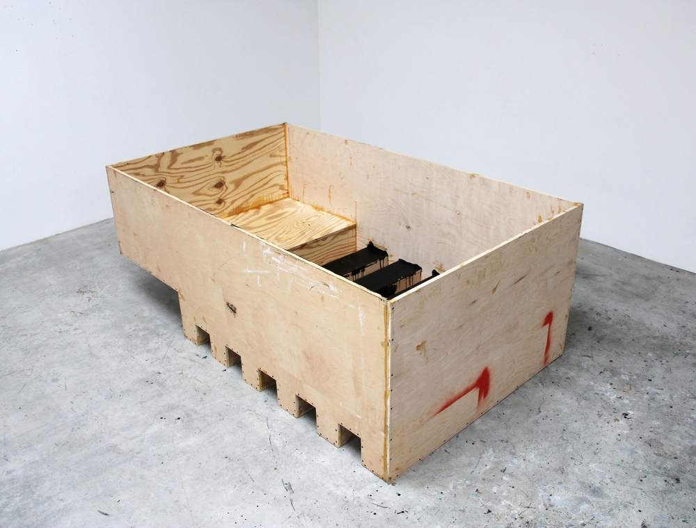 Container (Black Interior) 2013–2014 33 x 52 x 88.5 inches