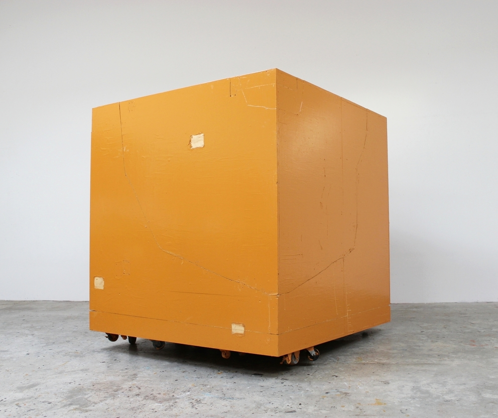 Rolling Platform (Cube) 2010 66 x 60 x 60 inches