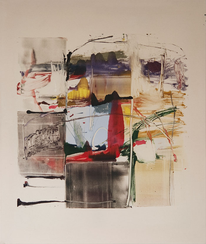 Allegori 2003-2013 Monoprint on raw canvas 130 x 110 cm