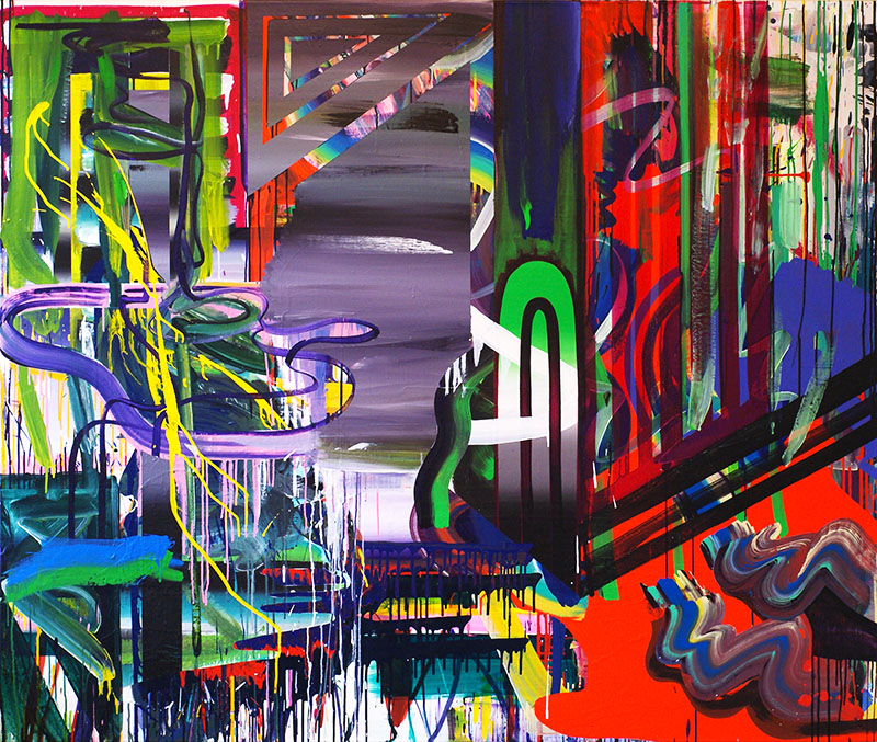 Nature Breaking Through 2010 Acrylic on canvas 169 x 190 cm
