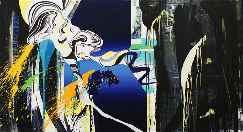 The Cloud 2010 Acrylic on canvas 105 x 190 cm