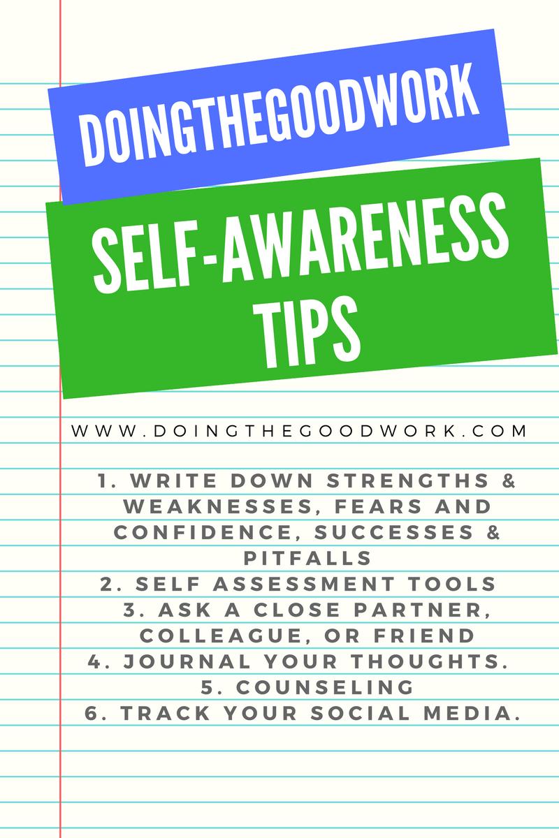 self awareness in social work