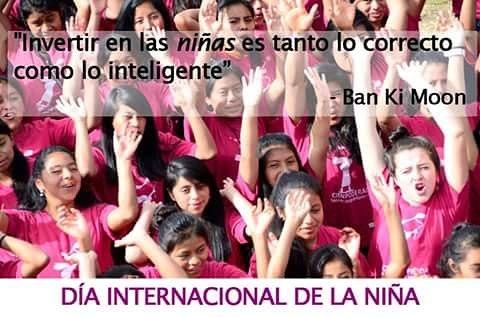 ¡Las niñas son las Chispas que necesitamos para cambiar el mundo! #DiadeLaNiña #Dayofthegirl