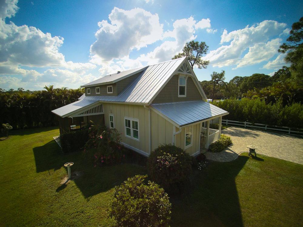 Florida Cracker-Style Home   Estero, Florida two-story custom home