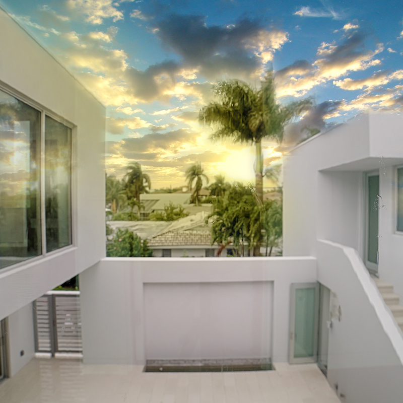 Snow House   Fort Myers, Florida two-story custom home on Gulf access waterway