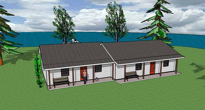 Cottage Duplex - SF: 576-728Building Difficulty: 2
