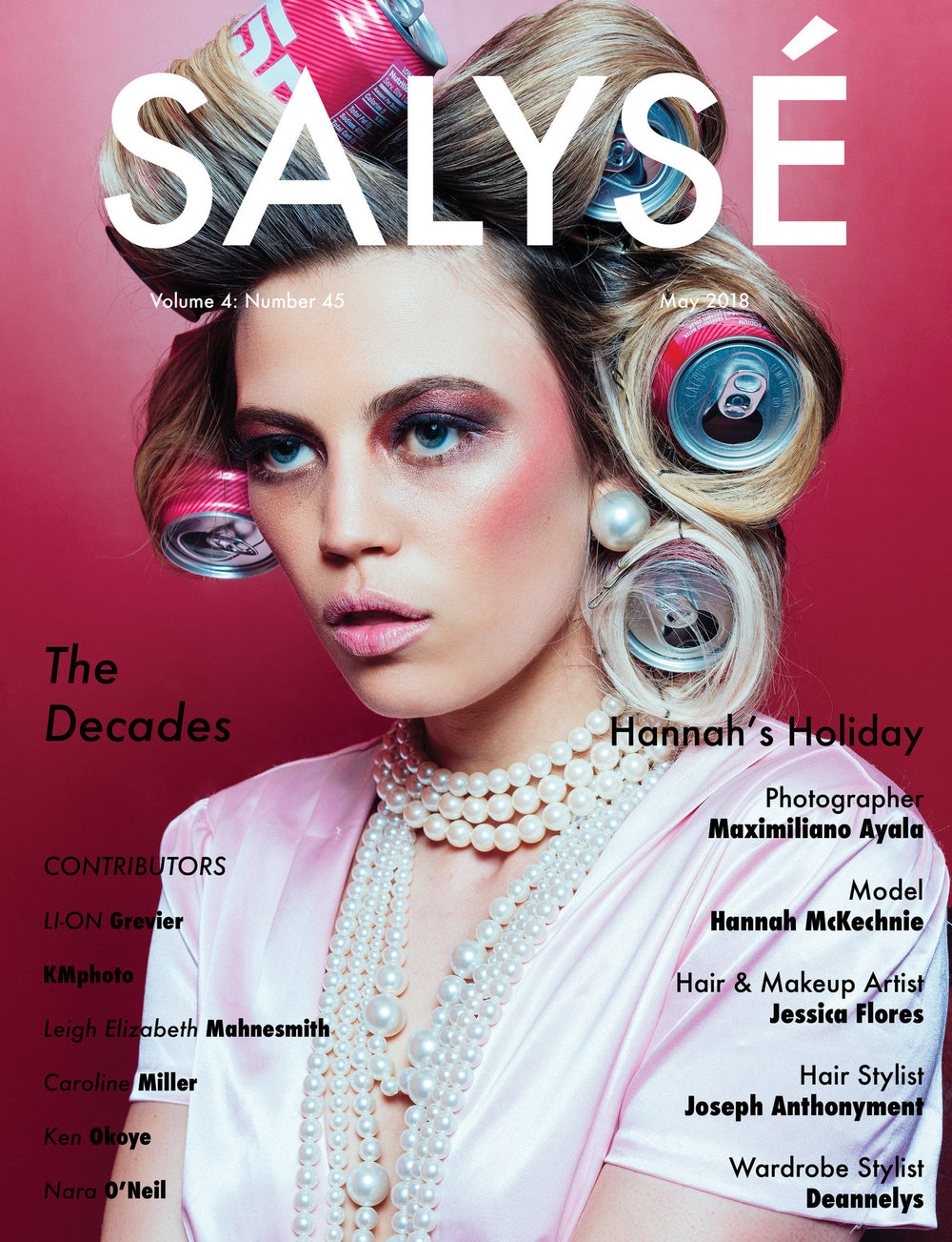 Cover of Salysé Magazine and published story
