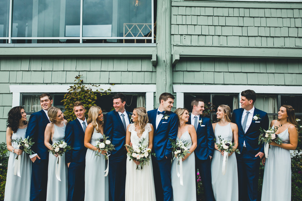 #Bridal Party Style. #Weddings  Photographer | Tosha Lobsinger Photography. Makeup | Katie Elwood. Hair | Jen Mathison. Flowers | Our Little Flower Company. Bridesmaid Dresses | Park & Fifth.