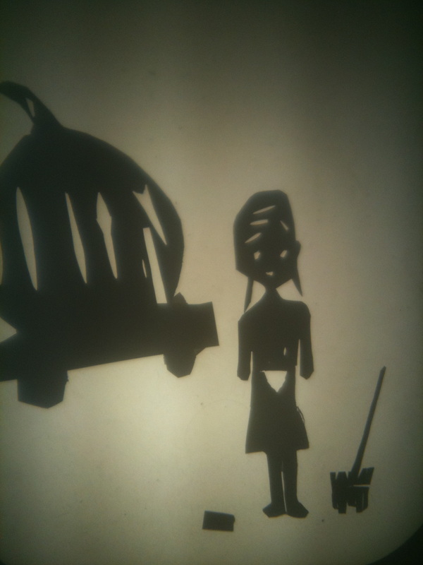 Shadow puppet scene