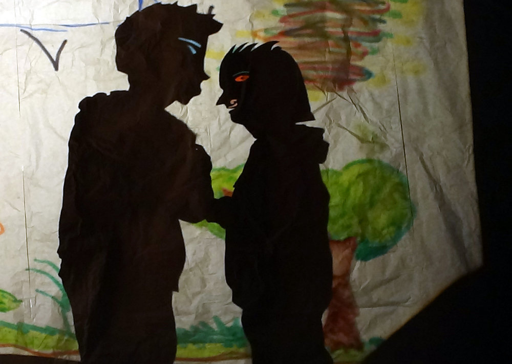 Student shadow play performance