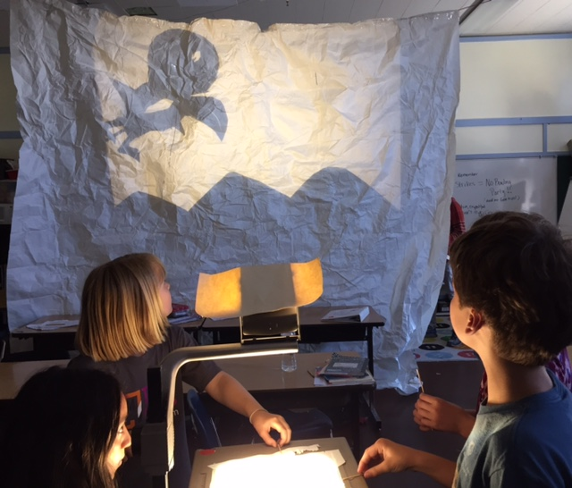 BVHM MS student shadow play rehearsal