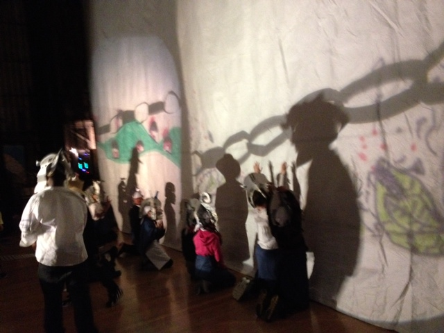 Everett MS student shadow play performance