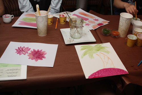 painting with juice class