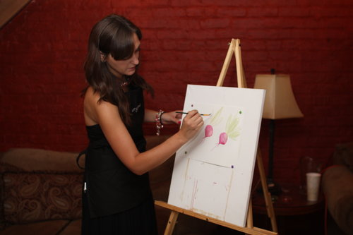 How to paint with raw juices