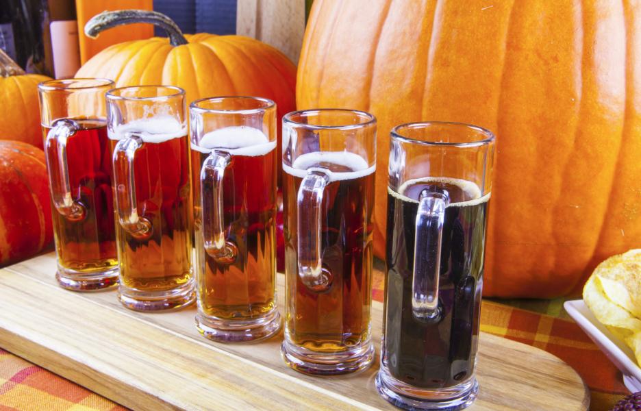 pumpkin carving and beer tasting