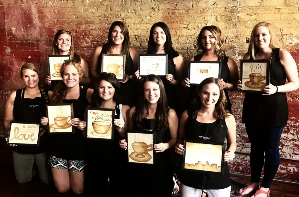 Coffee Painting Bachelorette Party