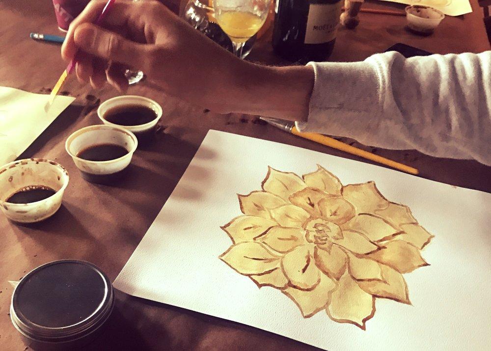Coffee Painting Class