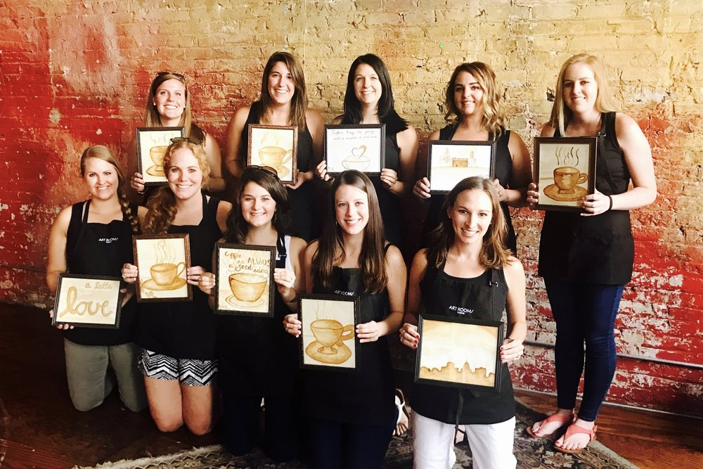 Coffee Painting and Tasting Class