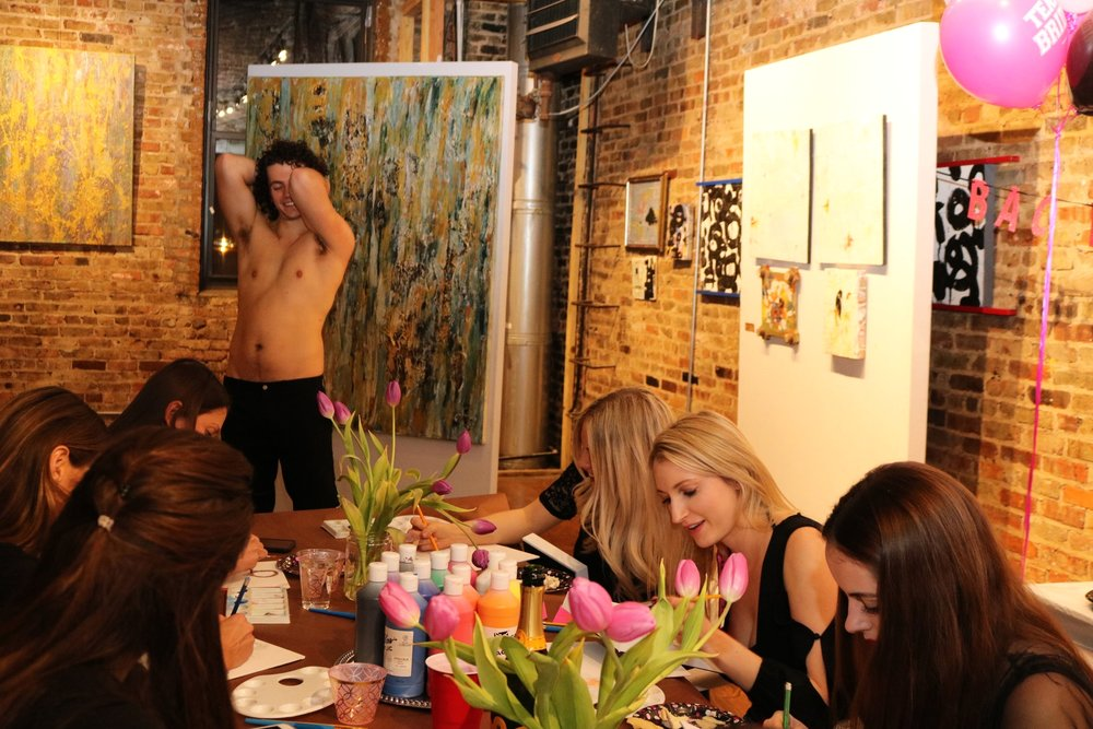 Bachelorette Painting Party