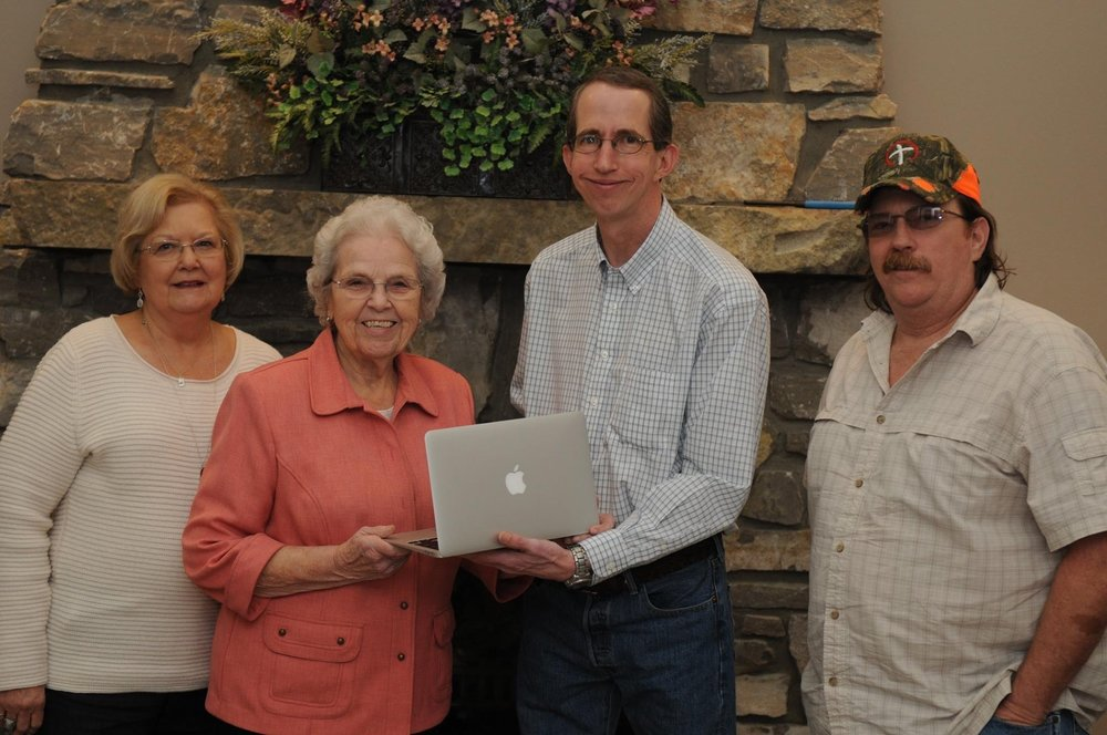 Presentation of a computer given to a Missionary living           overseas who really needed a   computer. Friends chipped in and helped pay to get him a nice laptop. Our Project does other things when we see a need we can fulfill.
