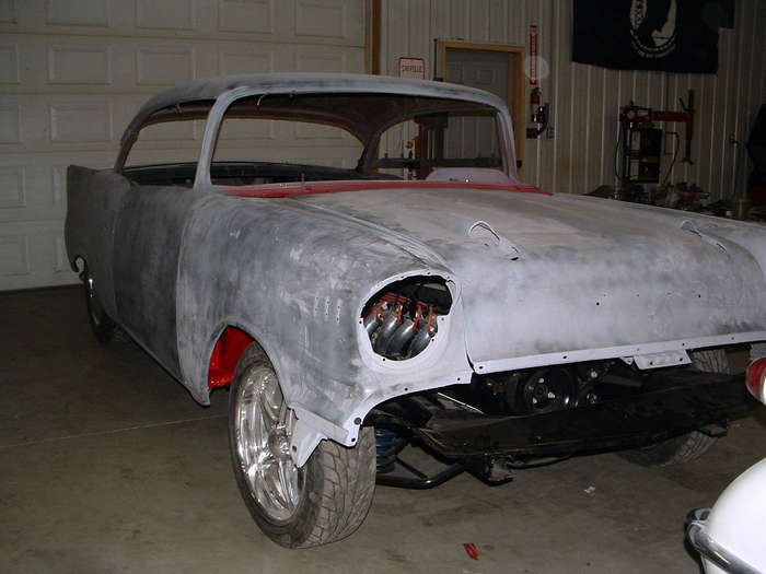'57 Chevy-This shows the panels installed and fitted.