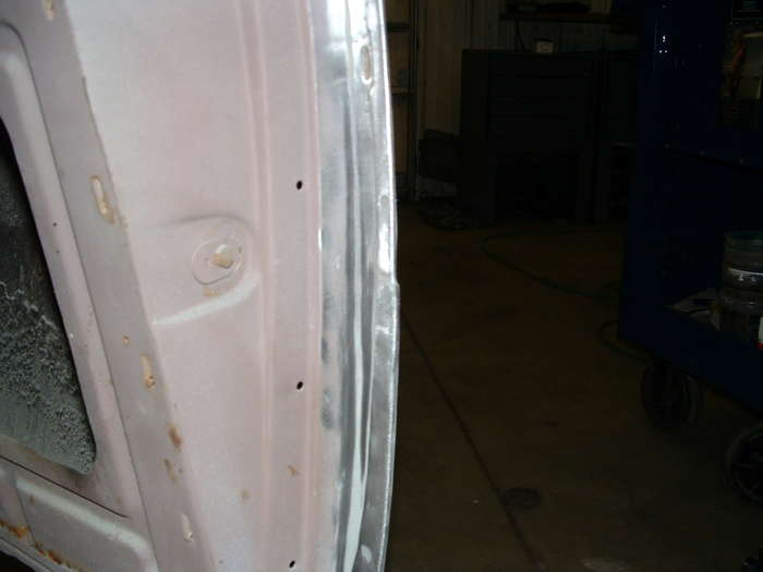 '57 Chevy-We first discovered something was not right when we saw how the door stepped out on the bottom