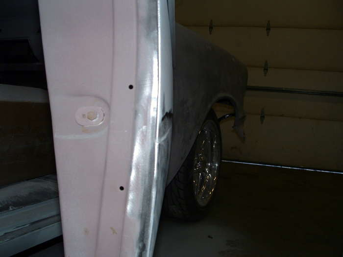 '57 Chevy-This shows how much body filler was used to try and make horrible repair work a little more time...