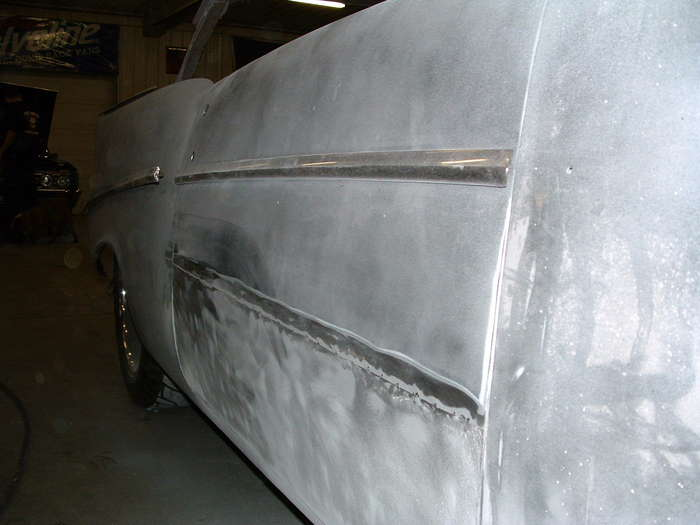 '57 Chevy-This shot shows the overlay what you can not see is how high it is. It was only welded about every 3 inches