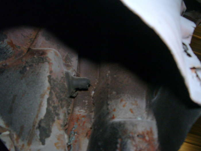 '57 Chevy-This pictures shows rust where there was patches done this work is not acceptable and the paint will not last if not repaired properly.