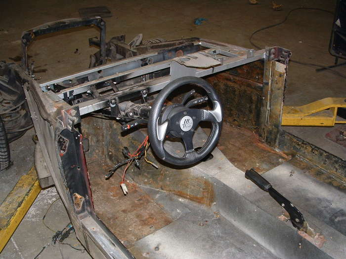 We will be replacing the steering column with a tilt IDIDIT column.