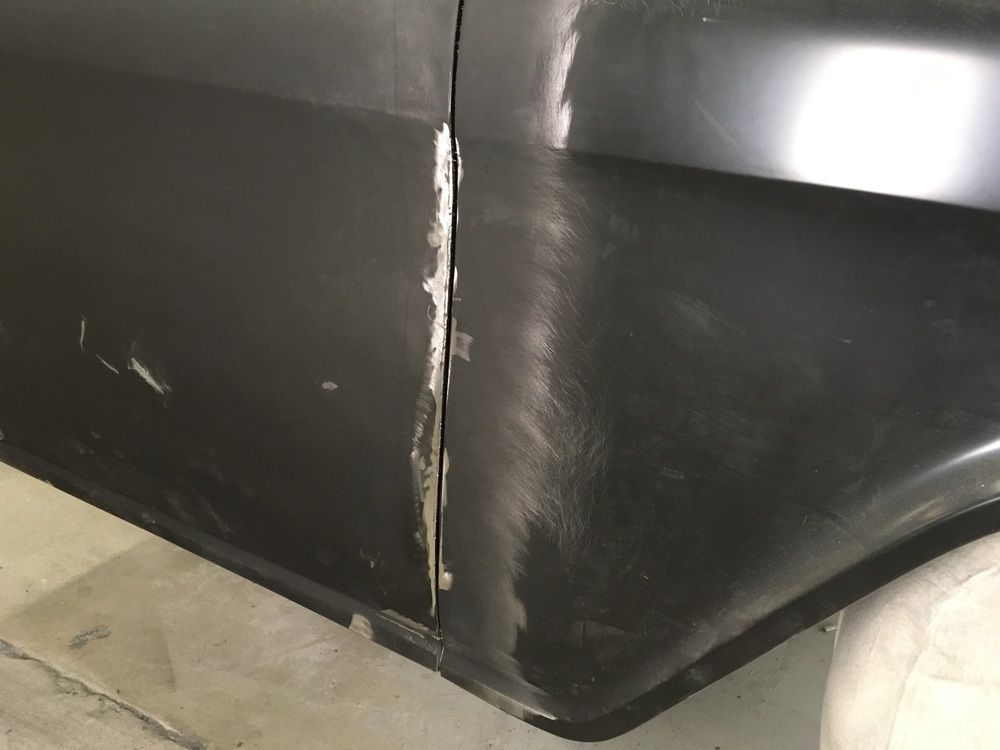 Welded and fit door gap on 1955 Chevy