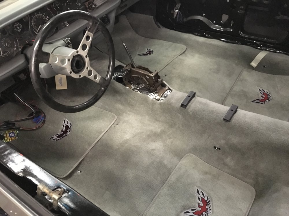 New carpet in Pat's 79 Trans Am