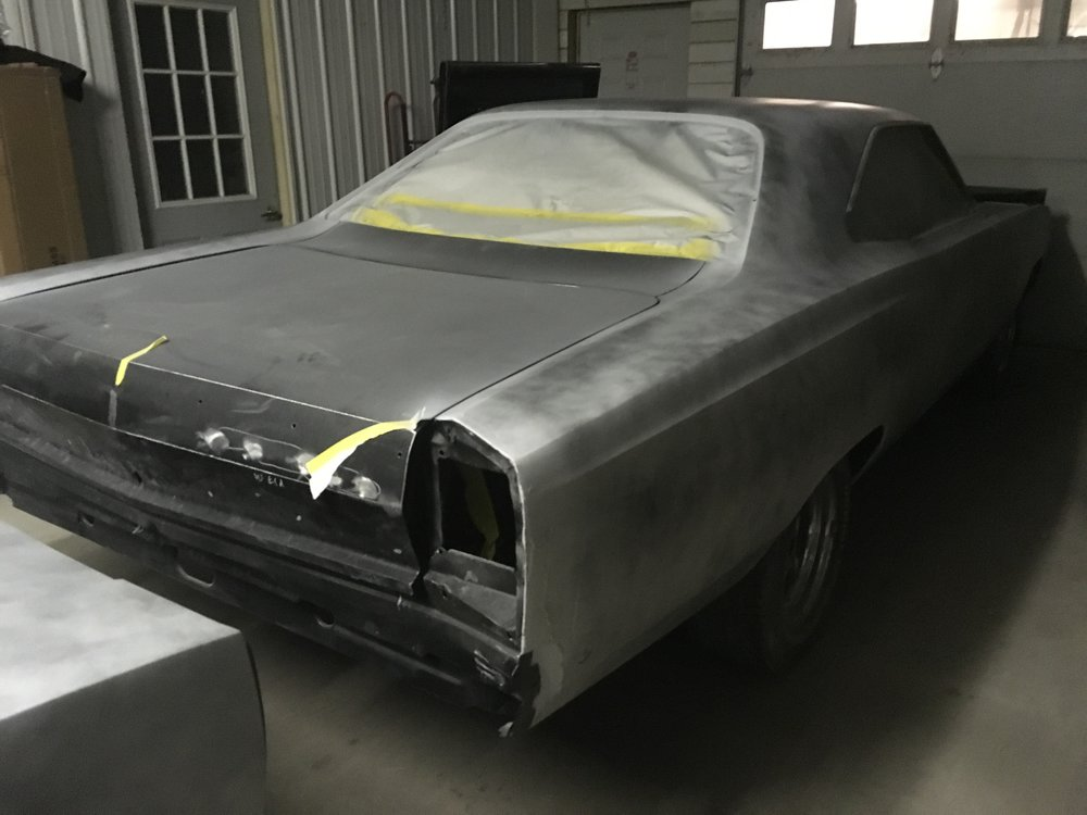 68 Plymouth GTX primed
