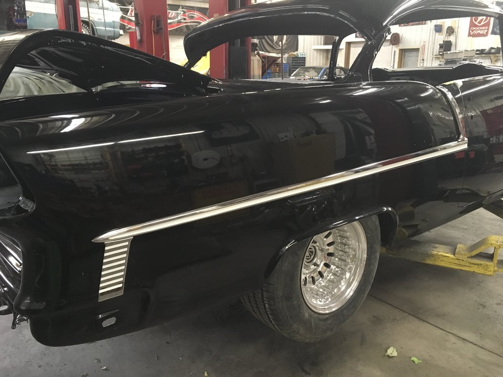 Trim on 55 Chevy Bel Aire