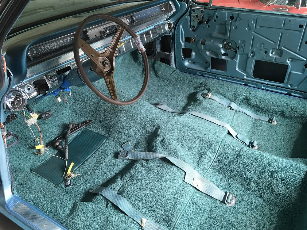 Carpet installed 1962 Bonneville