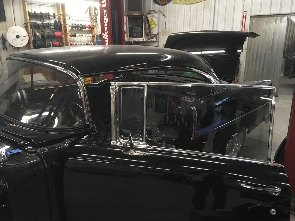 Window trim on 55 Chevy