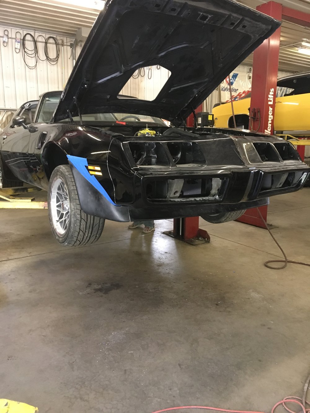 Front spoilers fitted on 1979 Trans Am!