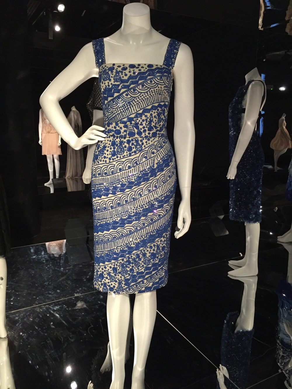 As soon as I saw this dress I loved it. It's so striking with the diagonal beading and the white and blue.