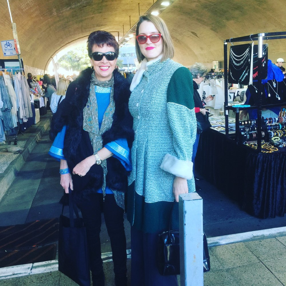 Checking out Kirribilli Markets last month.