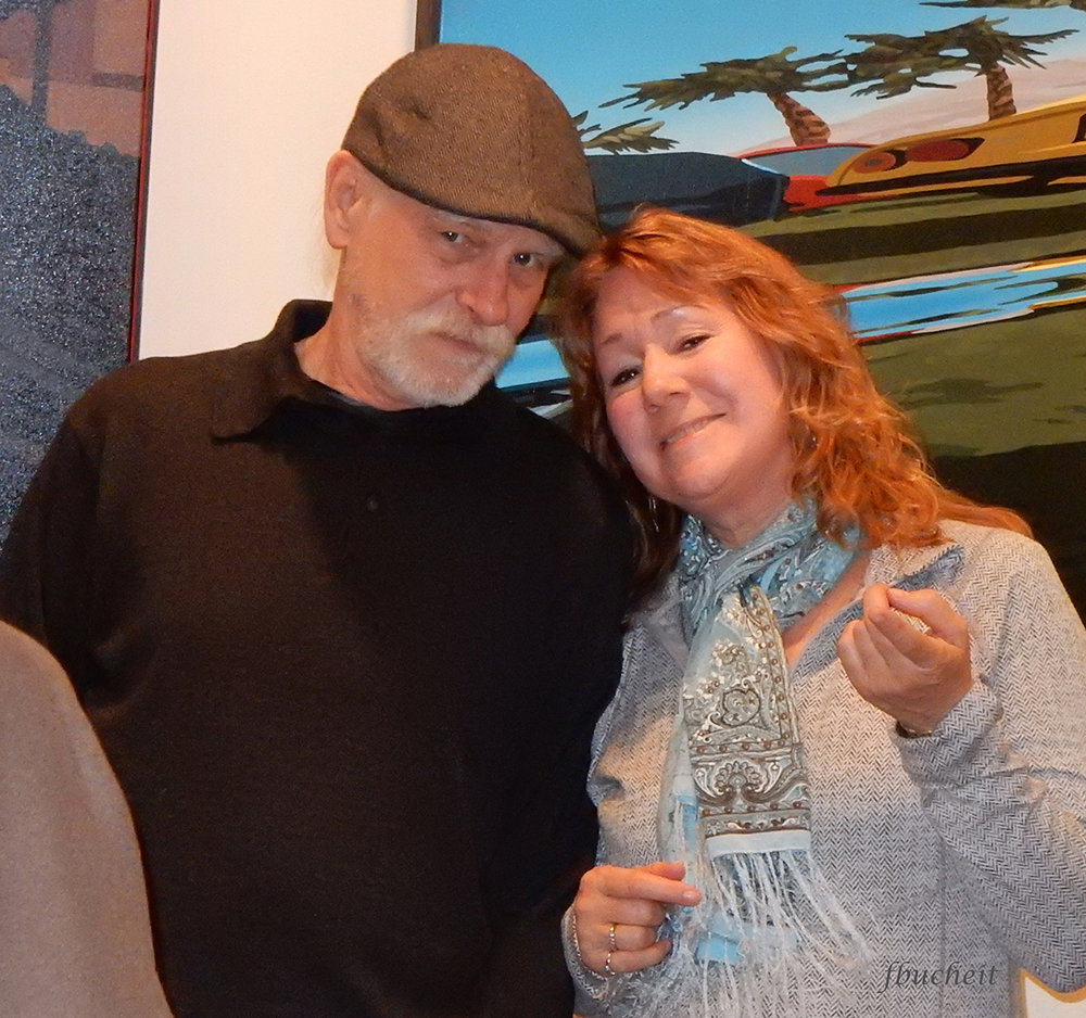 Invitational Artist Jim Farrah with Susan Nicholas Gephart