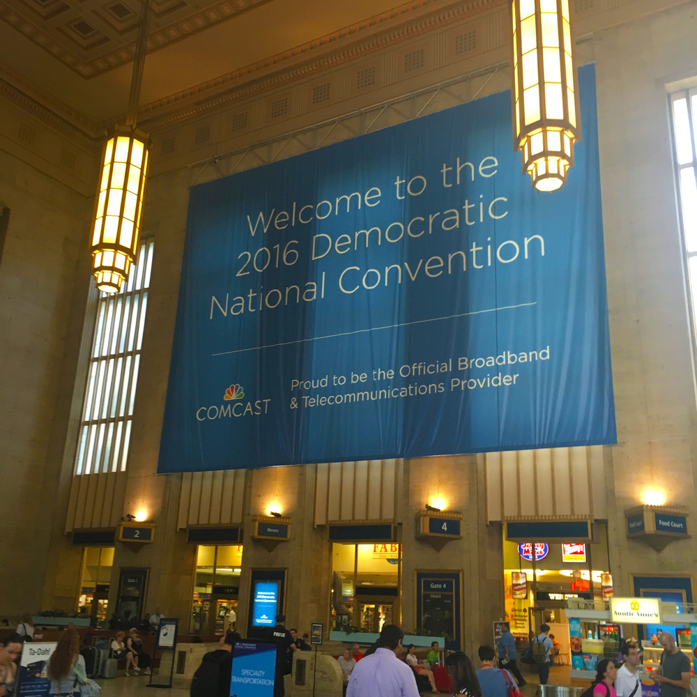 DNC Day 1: 30th Street Station.