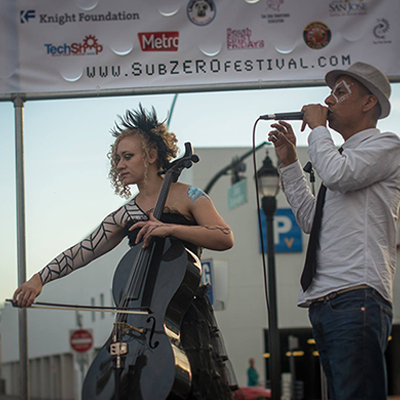 Cellista at 2015 subZERO Festival