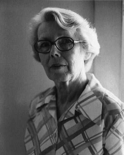 Helen Lundeberg  August 1974  photo by Fidel Danieli